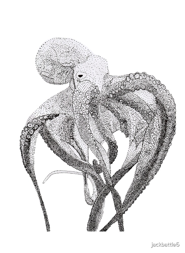 Black and white octopus by jackbattle6