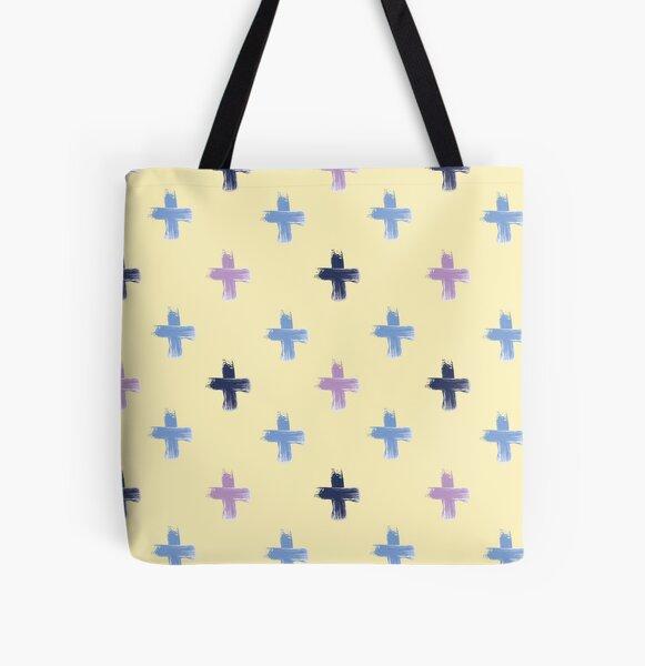 Shoreline Cross on Lemon All Over Print Tote Bag