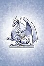 Birthstone Dragon: April Diamond Illustration by Stephanie Smith