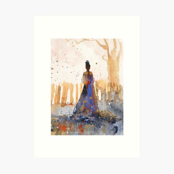 Golden Memory Watercolors Art Print