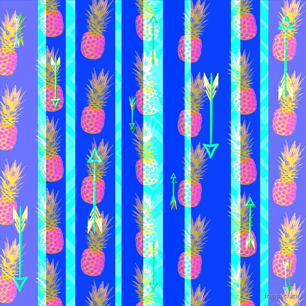 Bright Boho Pineapple Pattern by frappechica
