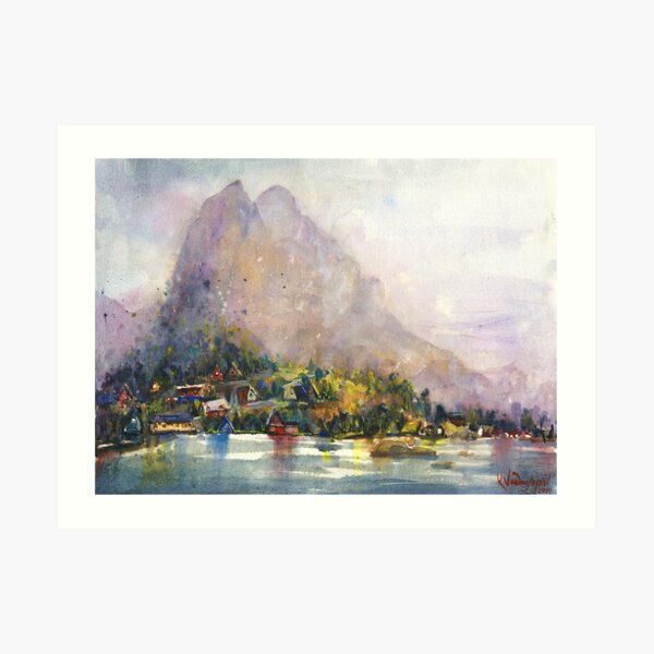 Norway Watercolors Art Print