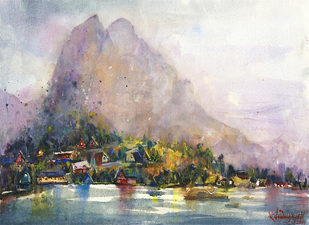 Norway Watercolors by kristinavart