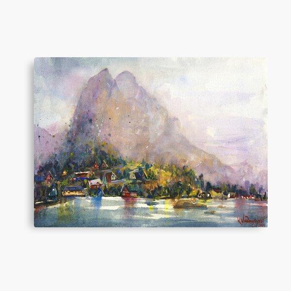 Norway Watercolors Canvas Print