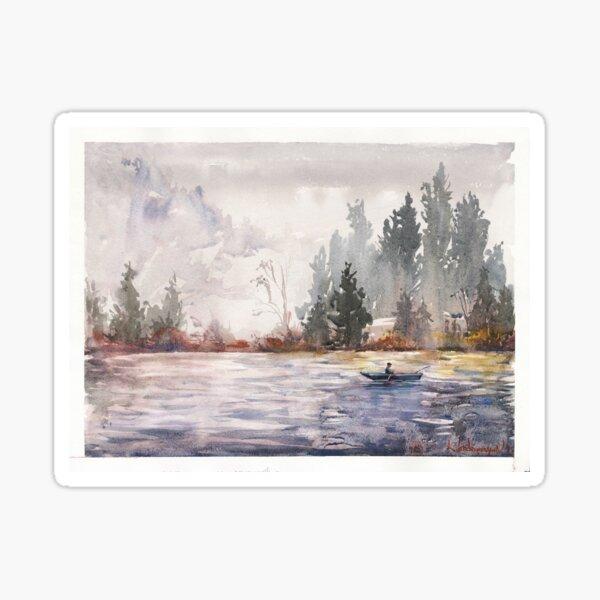 Fishing Watercolors Sticker