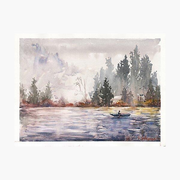 Fishing Watercolors Photographic Print