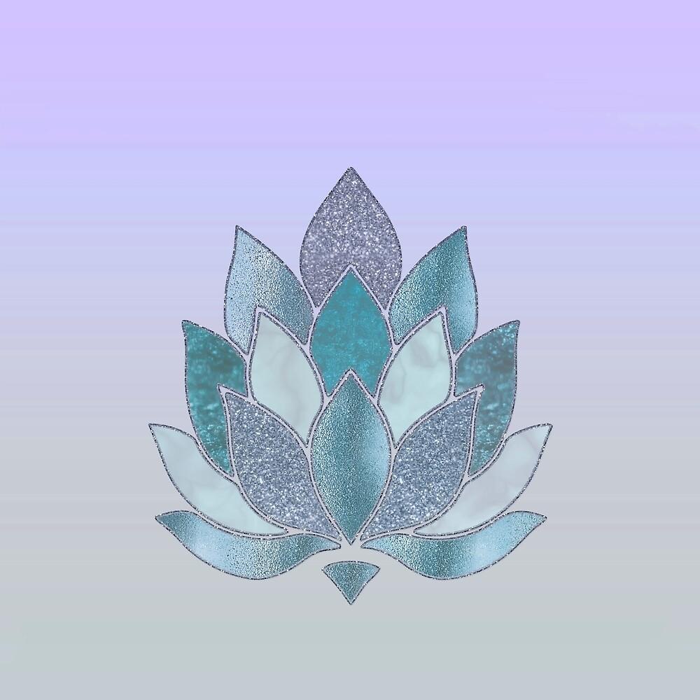 Elegant Glamorous Pastel Lotus Flower by artsandsoul