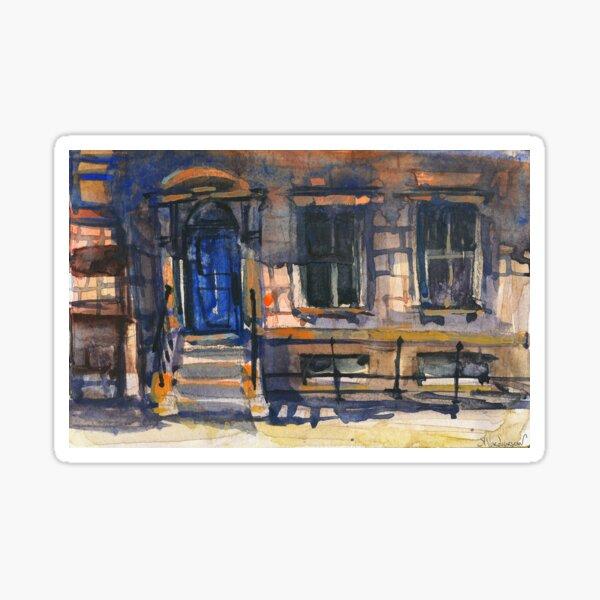 The Blue Door Watercolors Sticker