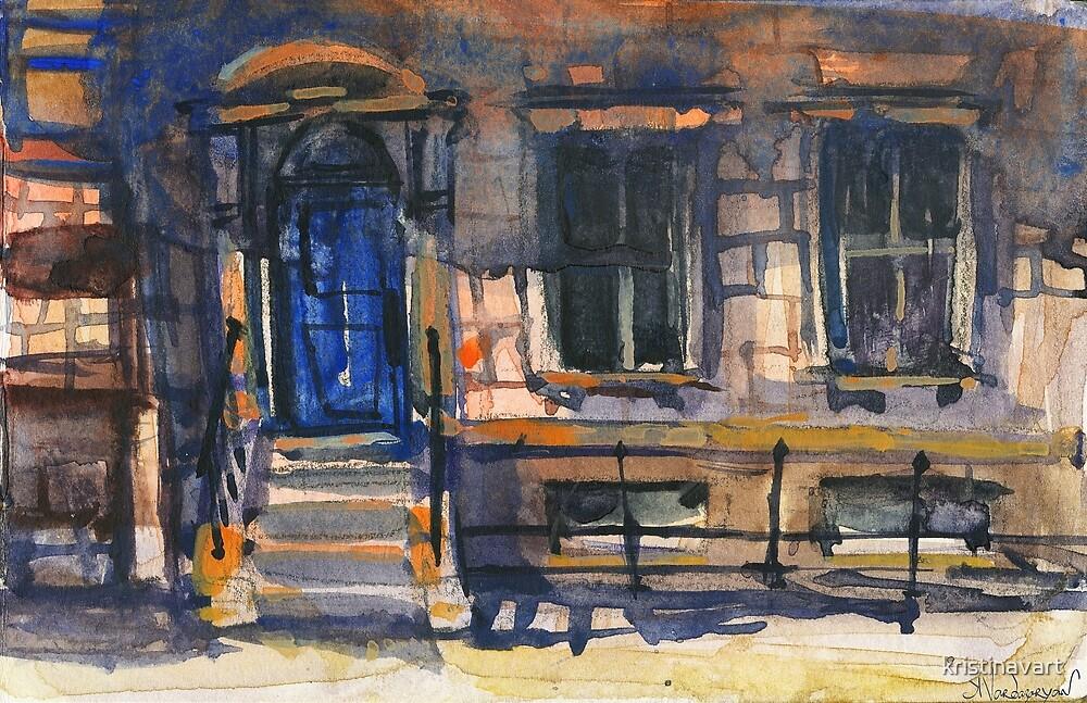 The Blue Door Watercolors by kristinavart