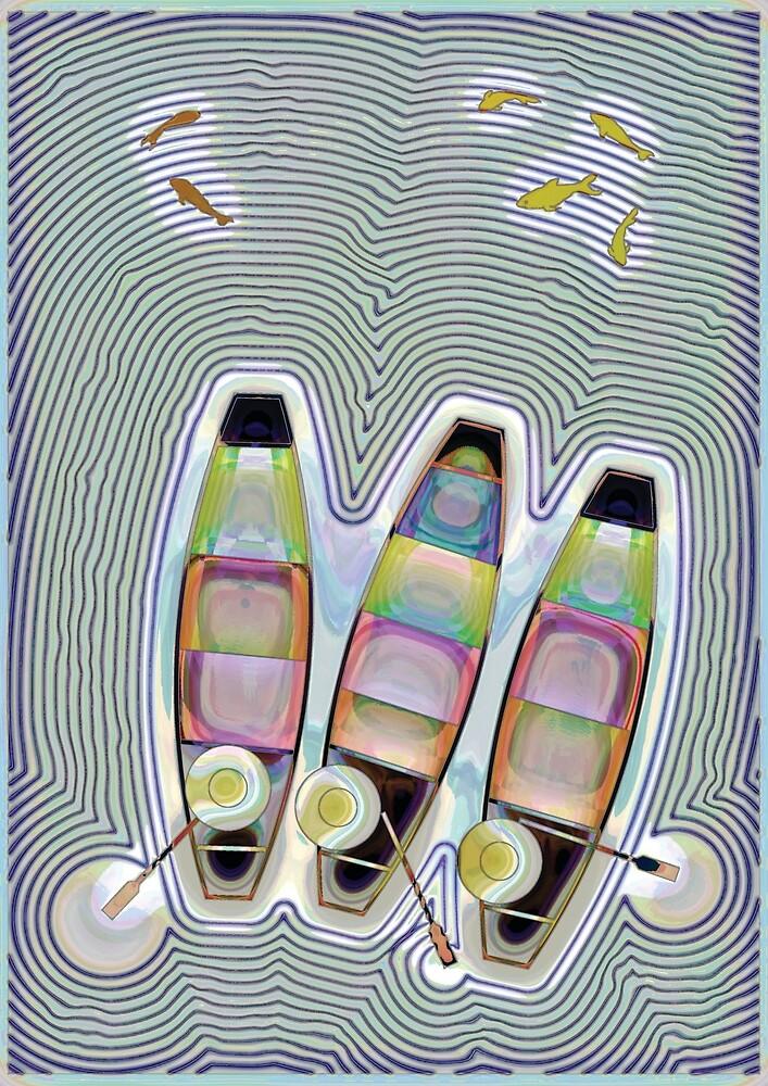 Three boats on the water by BANTAM-ARTS