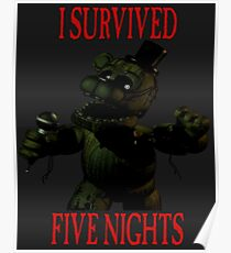 FNAF - I Survived Poster