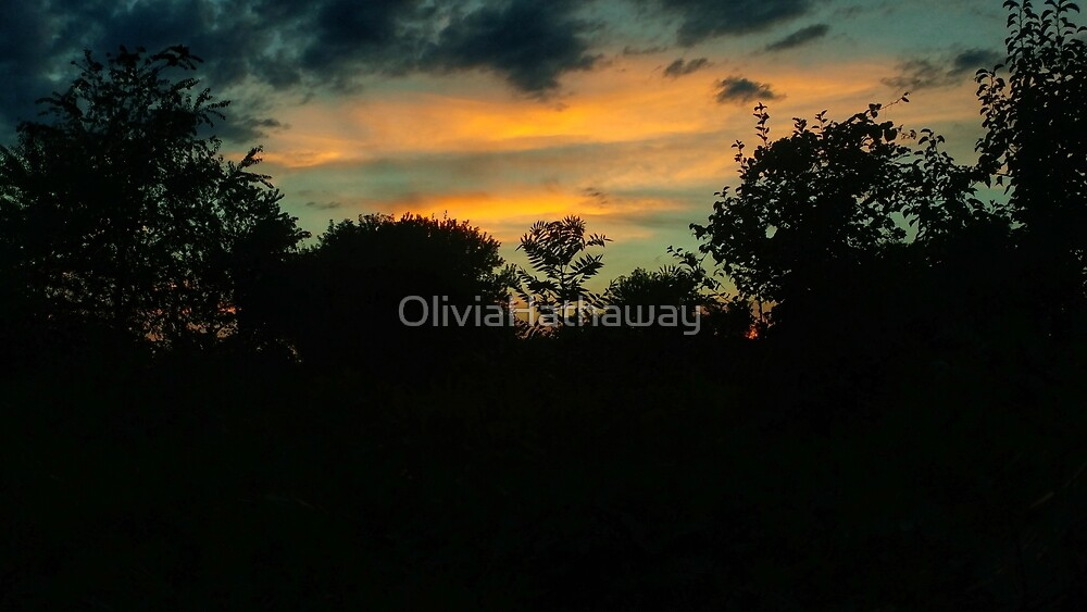 Pale Orange Sunset by OliviaHathaway