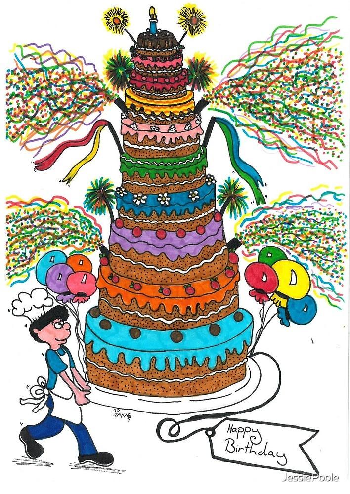 happy birthday card by JessiePoole