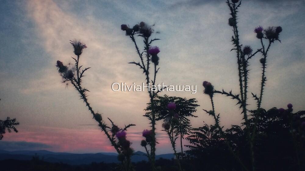 Hazy Thistles by OliviaHathaway