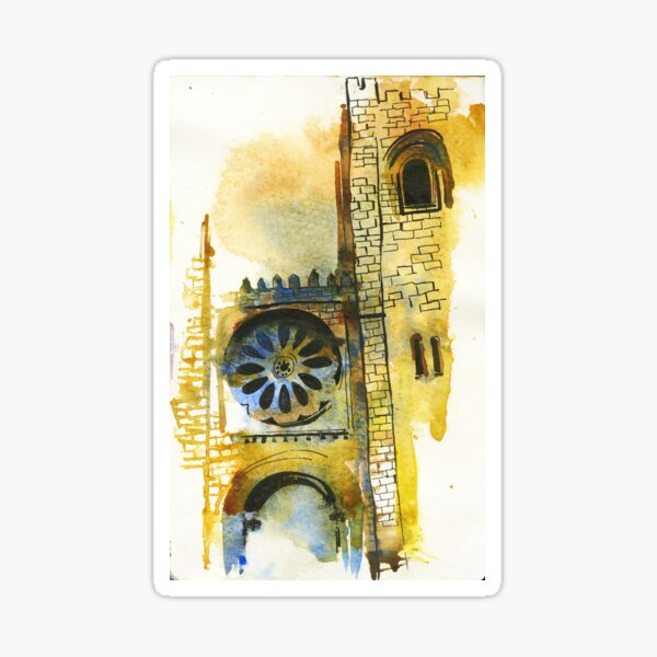 Cathedral Watercolors Sticker