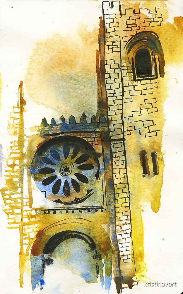 Cathedral Watercolors by kristinavart