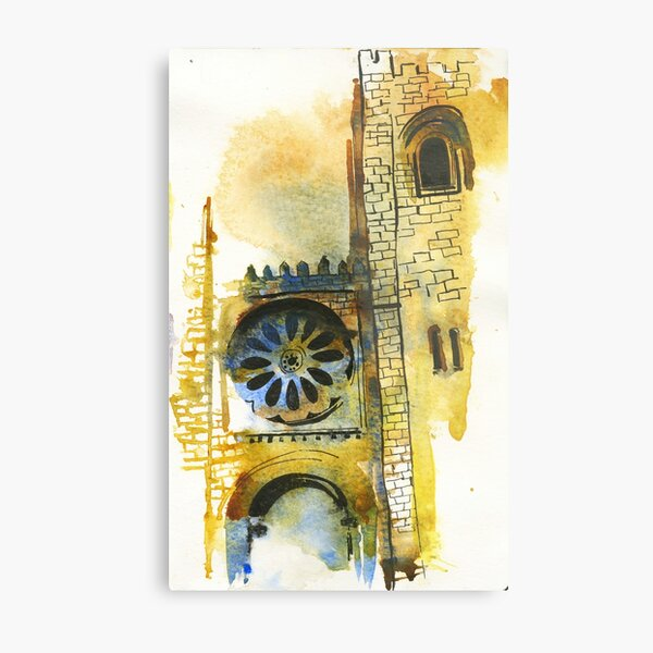 Cathedral Watercolors Metal Print
