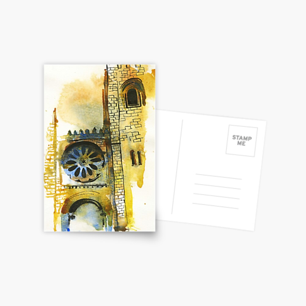 Cathedral Watercolors Postcard
