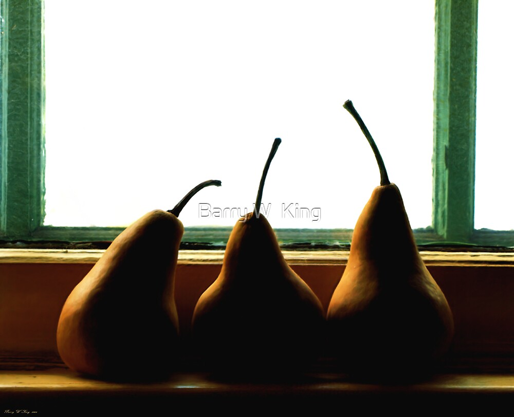 Three Pears by Barry W  King
