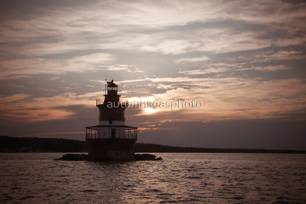 Sunset at Plum Beach Lighthouse by autumnseasphoto
