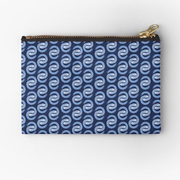 Shoreline C Blue on Navy Zipper Pouch