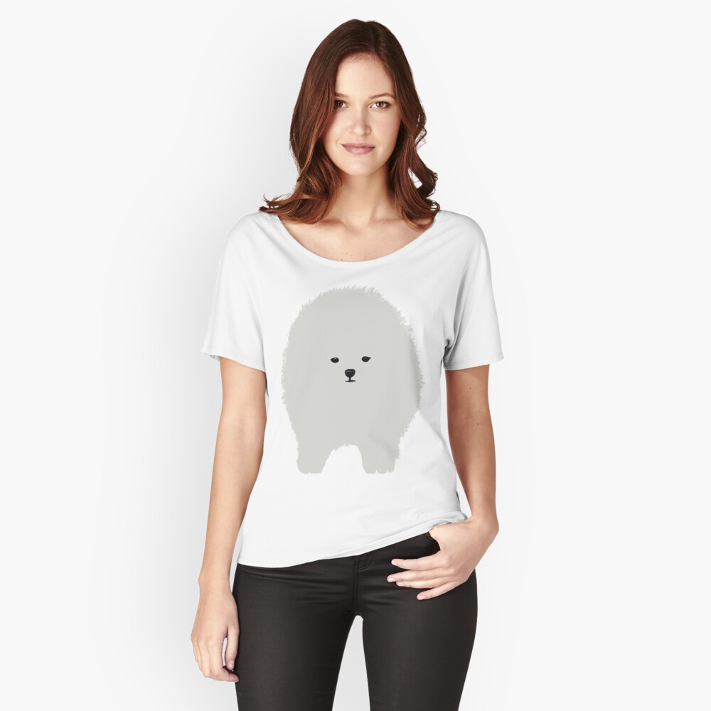 Pomeranian Dog Art  Relaxed Fit T-Shirt