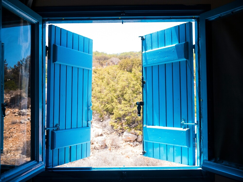 Through the Blue Shutters by Rae Tucker