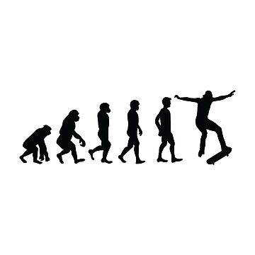 Evolution of Skateboarder Skateboarding Funny Gifts by miracletee
