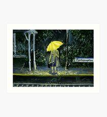 Yellow umbrella part 2 Art Print
