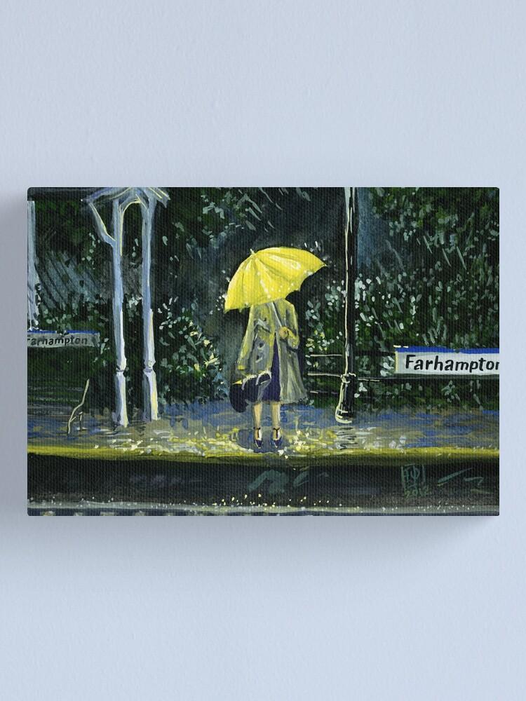 Alternate view of Yellow umbrella part 2 Canvas Print