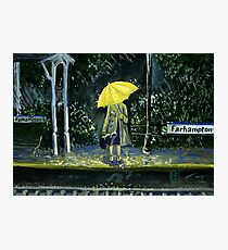 Yellow umbrella part 2 Photographic Print