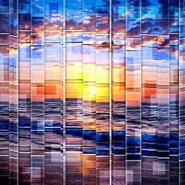 Vibrant Geometric Sunset by perkinsdesigns