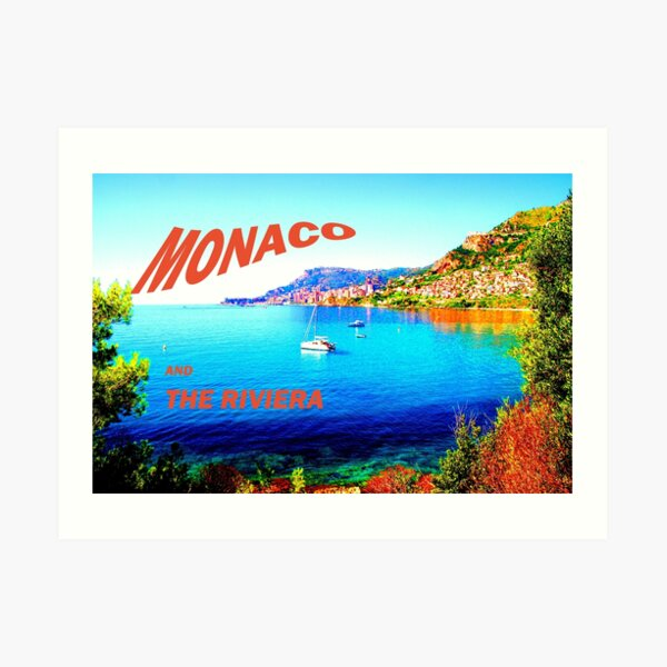 Monaco and the Riviera. Art Print