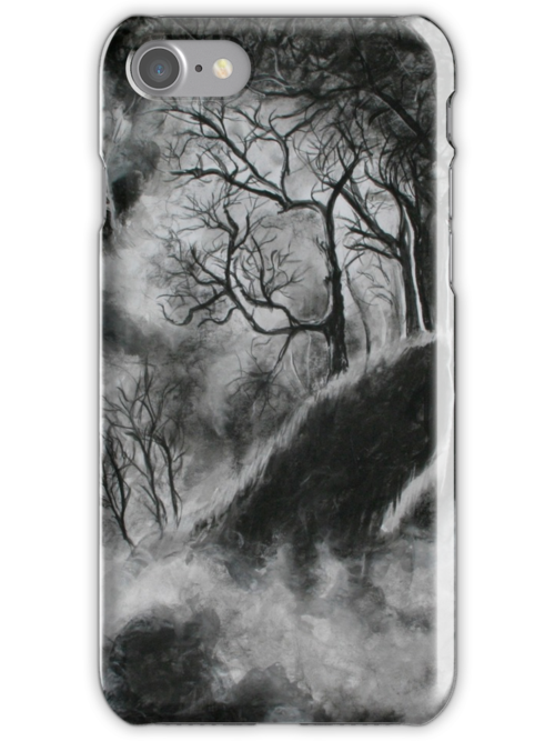 Black and White Forest in Clouds by Barbora  Urbankova