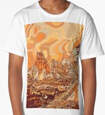 Abstract mountains Long T-Shirt