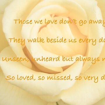 Sympathy Quote on Yellow Rose #2 by Frogvision