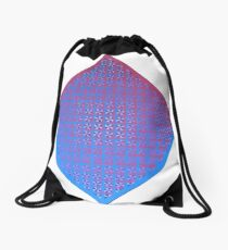 Red/Blue Weave Drawstring Bag