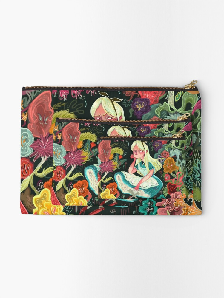 Alternate view of Alice in Wonder Zipper Pouch