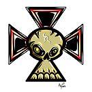 Iron Cross Skull by trickmonkey