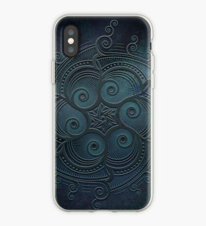Mobile skin case mandala blue iPhone Case