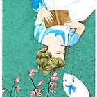 Book Lover Illustration inspired by Alice by raquelcasilda