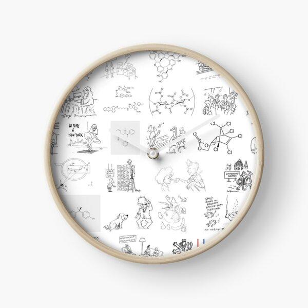 Line art, #novichok, #nerveagent, #Новичок, #химическая #формула, #politics, #chemistry, #deadliest #nerve #agents, #Theresa #May Clock