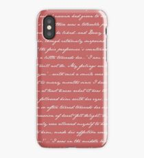Pride and Prejudice Quotes iPhone Case/Skin