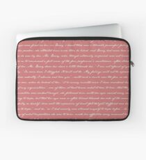 Pride and Prejudice Quotes Laptop Sleeve