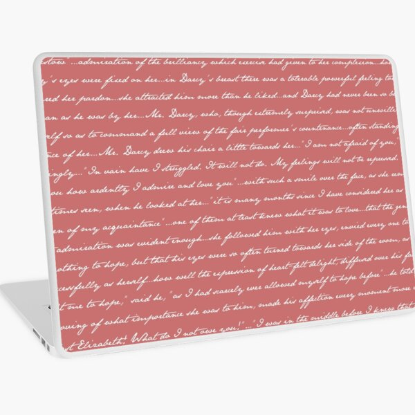 Pride and Prejudice Quotes Laptop Skin
