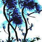 Blue Rose Tree by DeeCarmack