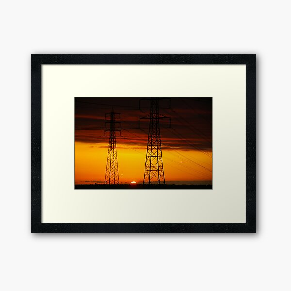This Evening's Last Embers Framed Art Print