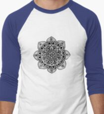 Black Mural Mandala - Art&Deco By Natasha Men's Baseball ¾ T-Shirt