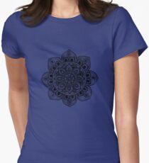 Black Mural Mandala - Art&Deco By Natasha Women's Fitted T-Shirt