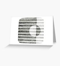 Hand drawing ink square pattern Greeting Card